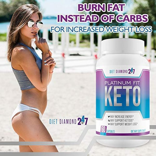 Diet Diamond 247 Calcium Supplement 6 Platinum Fit Keto - Burn Fat Faster to Lose More Weight - Calcium BHB Accelerated Ketosis - Help Your Body Get Into Ketosis Faster So You Can Burn Fat Now