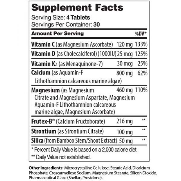 Zahler Calcium Supplement 5 Zahler Bonefactor, Bone Strength Supplement containing Calcium, Vitamin D, Vitamin K and Magnesium, Certified Kosher, 120 Tablets