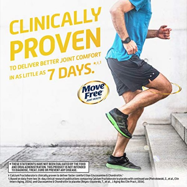 Move Free Calcium Supplement 6 Calcium & Calcium Fructoborate Based Ultra Faster Comfort Tablets Value Pack, Move Free (64 Count in A Box), Joint Health Supplement That Provides Clinically Proven Joint Comfort in 1 Tiny Pill