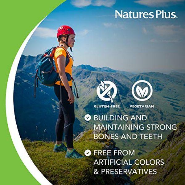Nature's Plus Calcium Supplement 4 NaturesPlus Cal/Mag - 500 mg Calcium, 250 mg Magnesium, 180 Vegetarian Tablets - Bone Health Support Supplement, Promotes Heart Health - Gluten-Free - 180 Servings