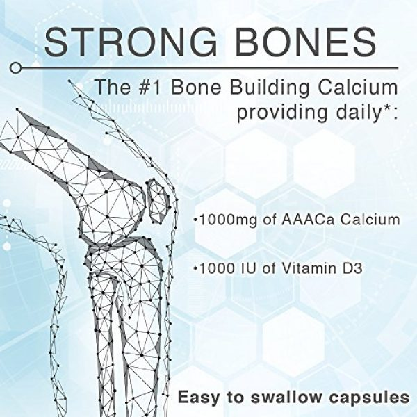Lane Innovative Calcium Supplement 4 Lane Innovative - AdvaCAL 1000, Advanced Calcium Supplement, Easy to Swallow Extra Small Capsule, Supports Increased Bone Density (150 Capsules)