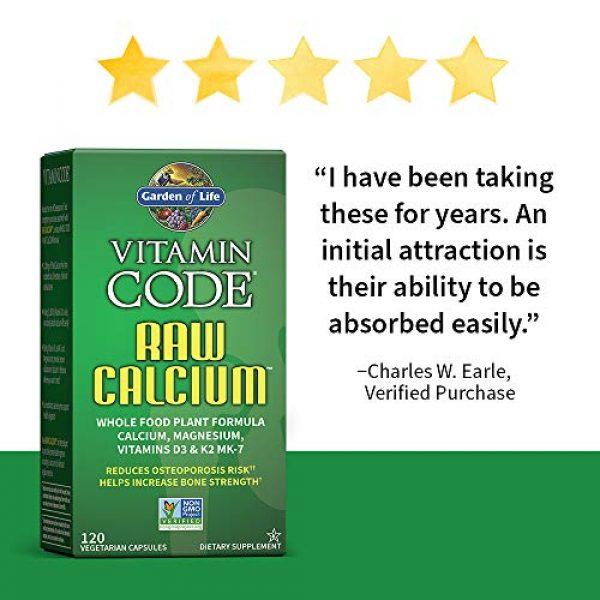 Garden of Life Calcium Supplement 2 Garden of Life Raw Calcium Supplement, Vitamin Code Whole Food Calcium Vitamin for Bone Health, Vegetarian, 120 Capsules Packaging May Vary