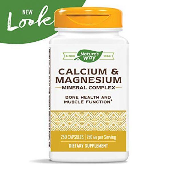 Nature's Way Calcium Supplement 3 Nature's Way Calcium & Magnesium Mineral Complex, 750 mg per serving, 250 Capsules