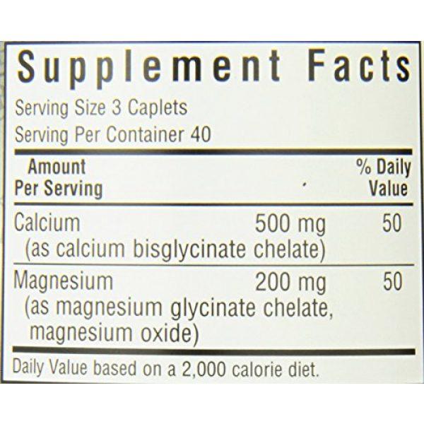 BlueBonnet Calcium Supplement 5 BlueBonnet Albion Chelated Calcium Magnesium Caplets, 120 Count