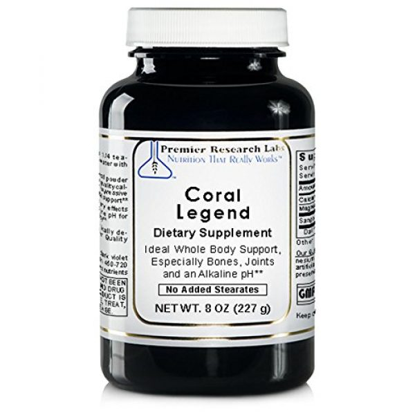 Premier Research Labs Calcium Supplement 1 Coral Legend, 8oz Powder - 100% Coral Mineral Powder; Ideal Whole Body Support, Especially for The Bones, Joints, Teeth and an Alkaline pH