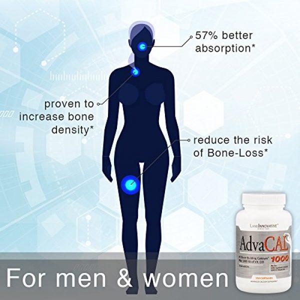 Lane Innovative Calcium Supplement 5 Lane Innovative - AdvaCAL 1000, Advanced Calcium Supplement, Easy to Swallow Extra Small Capsule, Supports Increased Bone Density (150 Capsules)