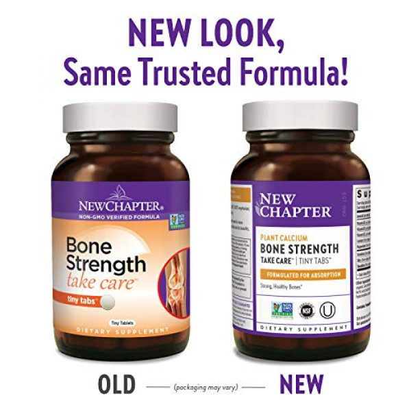 New Chapter Calcium Supplement 2 New Chapter Calcium Supplement - Bone Strength Whole Food Calcium with Vitamin K2 + D3 + Magnesium, Vegetarian, Gluten Free 240ct Tiny Tabs (40 Day Supply)