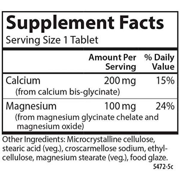 Carlson Calcium Supplement 2 Carlson - Chelated Cal-Mag, 2:1 Calcium to Magnesium Ratio, Bone Support, Muscle Function & Energy Production, 180 Tablets