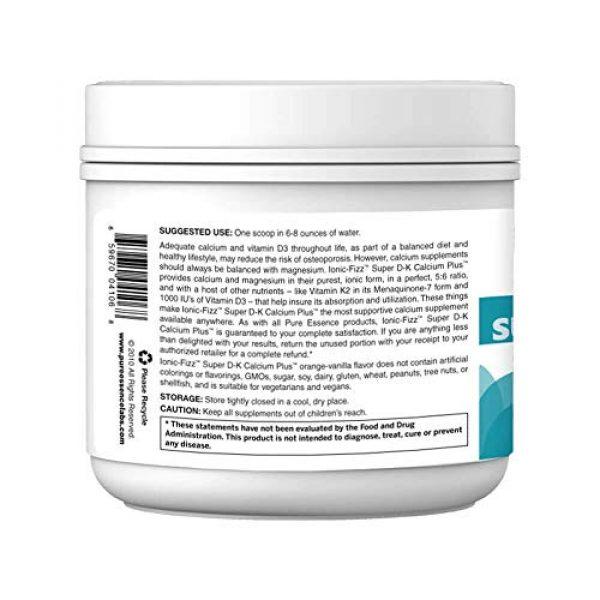 PURE ESSENCE LABS Calcium Supplement 7 Pure Essence Ionic Super D-K Calcium Plus by Pure Essence - With Extra Magnesium, Vitamin D3, Vitamin K2 For Strong Bones and Stress Relief - Orange Vanilla - 7.41oz