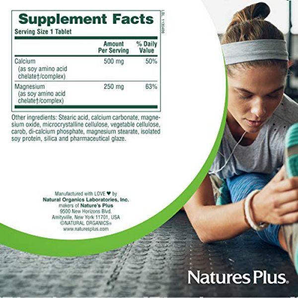 Nature's Plus Calcium Supplement 6 NaturesPlus Cal/Mag - 500 mg Calcium, 250 mg Magnesium, 180 Vegetarian Tablets - Bone Health Support Supplement, Promotes Heart Health - Gluten-Free - 180 Servings