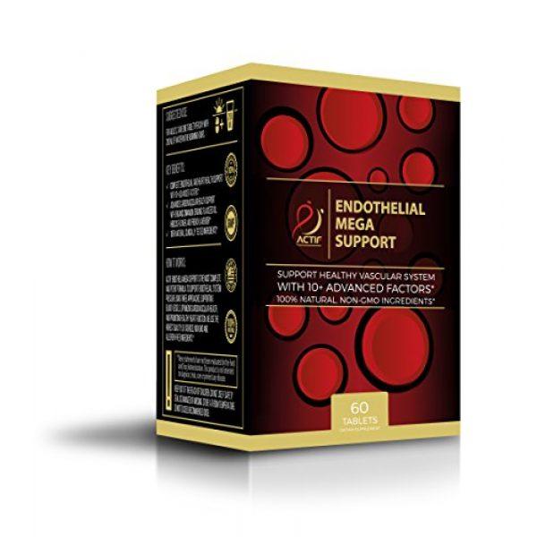 ACTIF Calcium Supplement 1 Actif Endothelial Mega Support with 10+ Factors, Maximum Endothelial System Support, Non-GMO, 60 Count