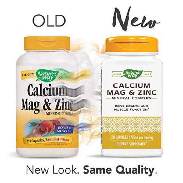 Nature's Way Calcium Supplement 2 Nature's Way Calcium, Magnesium & Zinc, 765 mg per Serving, 250 Capsules