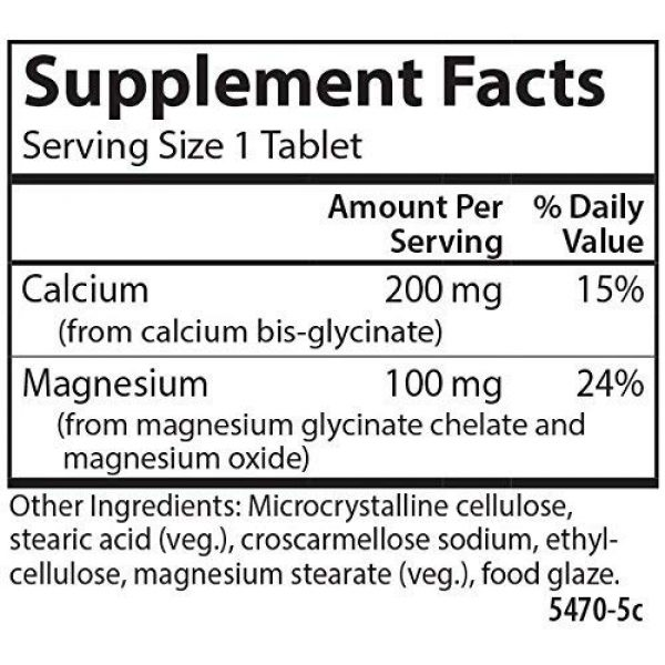 Carlson Calcium Supplement 2 Carlson - Chelated Cal-Mag, 2:1 Calcium to Magnesium Ratio, Bone Support, Muscle Function & Energy Production, 60 Tablets
