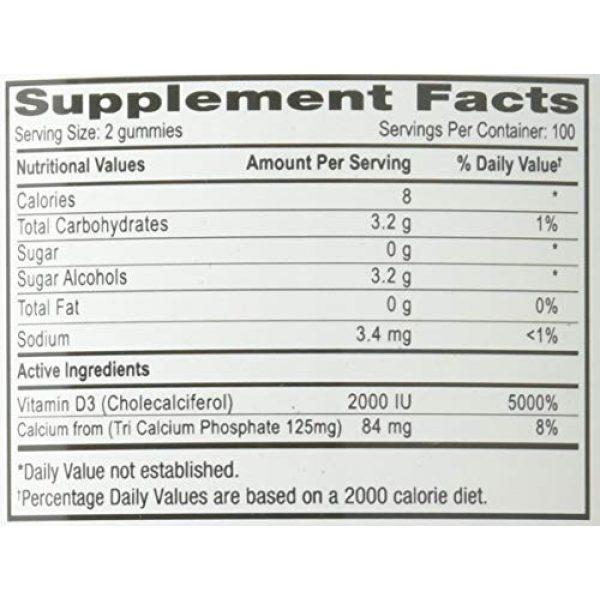 Lutrovita Calcium Supplement 5 Lutrovita Sugar Free Calcium with Vitamin D Gummy, Lemon, 200 Count
