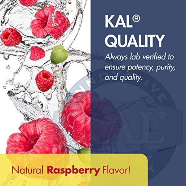 KAL Calcium Supplement 5 KAL Liquid Cal-Mag+ Vitamin D-3 | Natural Raspberry Flavor | Healthy Bones, Muscle & Heart Support | 30 Servings | 16 oz