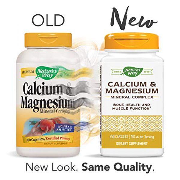 Nature's Way Calcium Supplement 2 Nature's Way Calcium & Magnesium Mineral Complex, 750 mg per serving, 250 Capsules