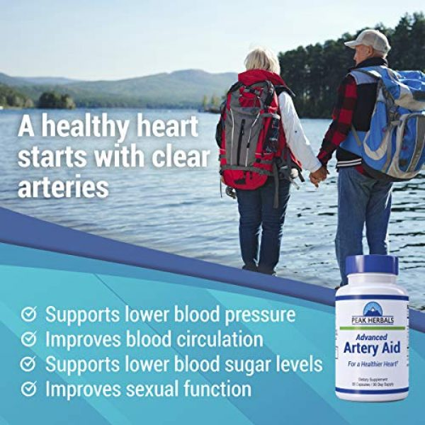 Peak Herbals Calcium Supplement 4 Advanced Artery Aid Supplement for Heart Health Support, addresses Poor Circulation and Targets clogged Arteries Throughout The Body. Helps Remove toxins and Supports Clean and Supple Arteries. (2)