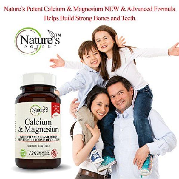 Nature's Potent Calcium Supplement 6 Calcium Magnesium Supplement with Vitamin D, Boron - Providing 10 Forms of Calcium, 120 (Capsules)