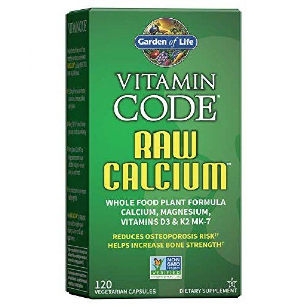 Garden of Life Calcium Supplement 1 Garden of Life Raw Calcium Supplement, Vitamin Code Whole Food Calcium Vitamin for Bone Health, Vegetarian, 120 Capsules Packaging May Vary