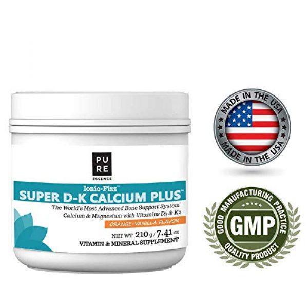 PURE ESSENCE LABS Calcium Supplement 5 Pure Essence Ionic Super D-K Calcium Plus by Pure Essence - With Extra Magnesium, Vitamin D3, Vitamin K2 For Strong Bones and Stress Relief - Orange Vanilla - 7.41oz