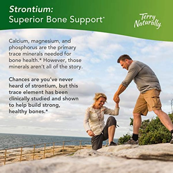 Terry Naturally Calcium Supplement 4 Terry Naturally Strontium (2 Pack) - 680 mg, 60 Vegan Capsules - Essential Mineral Supplement, Supports Bone Strength & Density - Non-GMO, Gluten-Free, Kosher - 60 Total Servings