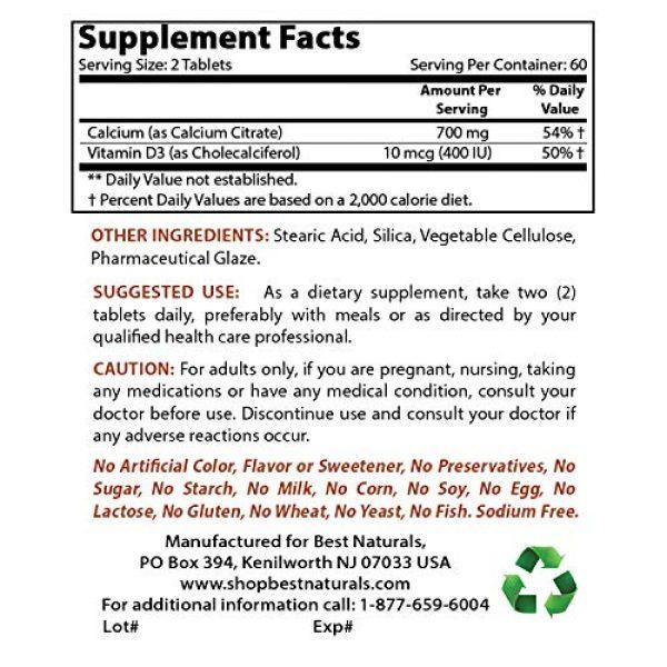 Best Naturals Calcium Supplement 2 Best Naturals Calcium Citrate with Vitamin D-3 120 Tablets