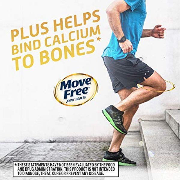 Move Free Calcium Supplement 7 Vitamins D & K2 + Calcium Fructoborate Ultra Bone Strength Support* Tablets, Move Free (30 Count in A Box), Clinically Proven Faster Joint ComfortÙ' in Just 1 Tiny Pill Per Day