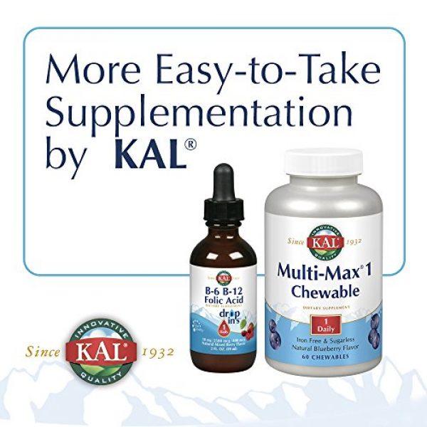 KAL Calcium Supplement 6 KAL Calcium Citrate Chewable Mixed Fruit Supplement, 60 Count