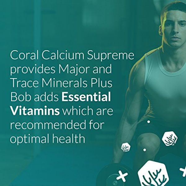 Robert Barefoot Calcium Supplement 5 Bob Barefoot Coral Calcium Supreme 1000mg - 2 Bottles - 90 Caplets Each - New Improved Formula - Made From Pure Marine Grade Okinawa Coral Calcium - With Essential Vitamins + 75 Trace Minerals