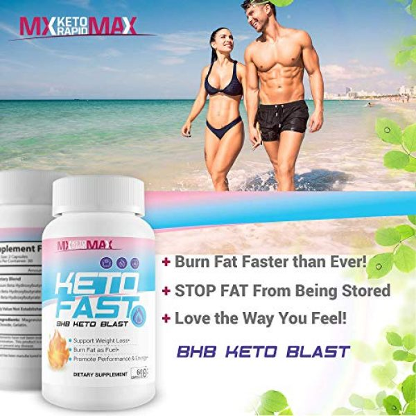 MX Keto Rapid Max Calcium Supplement 6 Keto Fast - BHB Keto Blast - Burn Fat Fast with Accelerated Ketosis Entry - by MX Keto Rapid Max - Feel The MX Keto Blast Effect of Calcium BHB Salts for max Rapid Keto Fat Burning and Weight Loss