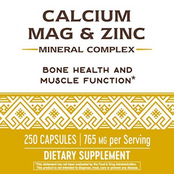 Nature's Way Calcium Supplement 4 Nature's Way Calcium, Magnesium & Zinc, 765 mg per Serving, 250 Capsules