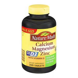 Nature Made Calcium Supplement 1 Nature Made Calcium Magnesium Zinc Tablets 300 ea (Pack of 3)