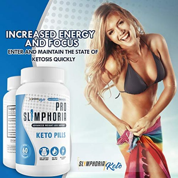 Slymphoria Keto Calcium Supplement 6 Pro Slimphoria Keto Pills - Advanced Weight Loss Support - Burn More Fat - Lose More Weight - Faster Ketosis with Slimphoria Keto Capsules -Slimphoria Keto with BHB - Slimphoria Pills