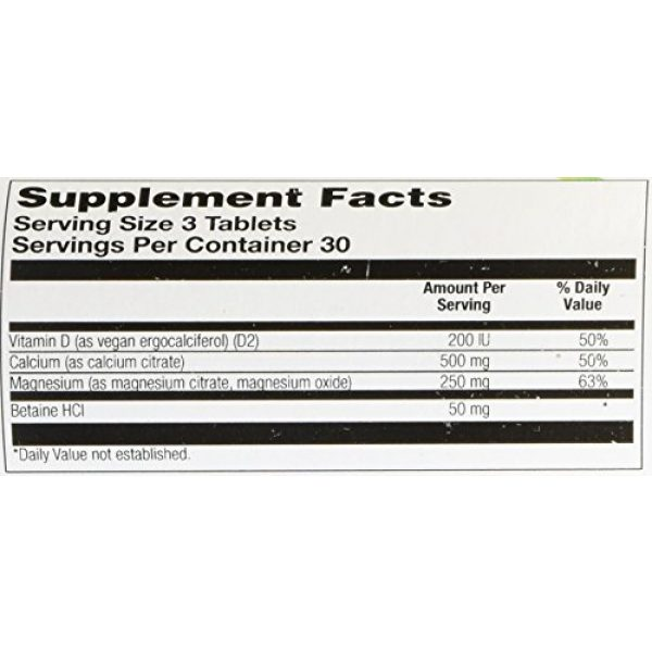 Veglife Calcium Supplement 3 VegLife Cal-Mag Citrate Plus D Vegan Tablet, 500 mg, 90 Count