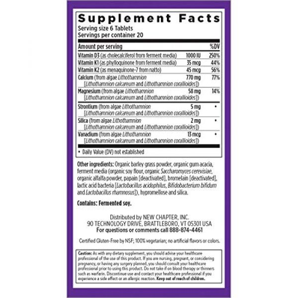 New Chapter Calcium Supplement 6 New Chapter Calcium Supplement - Bone Strength Whole Food Calcium with Vitamin K2 + D3 + Magnesium, Vegetarian, Gluten Free 240ct Tiny Tabs (40 Day Supply)