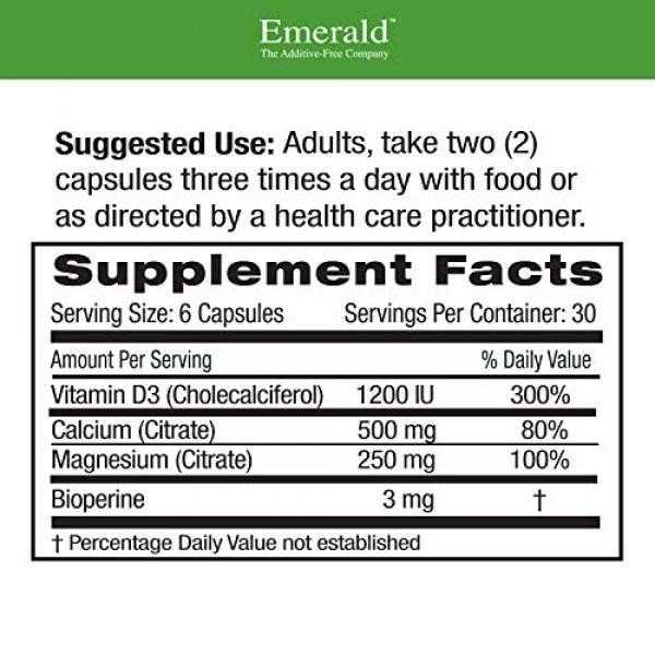 Ultra Botanicals Calcium Supplement 2 Emerald Labs Calcium Magnesium Citrate with 1,200 IU Vitamin D for Bone Support, Helps Maintain Immune System Health - 180 Capsules