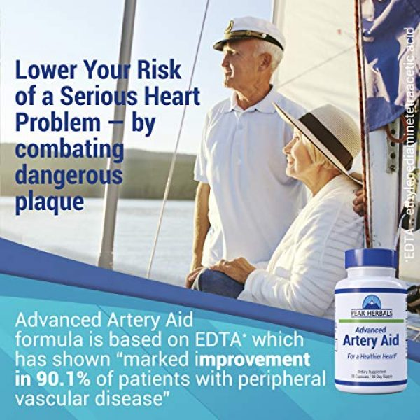 Peak Herbals Calcium Supplement 3 Advanced Artery Aid Supplement for Heart Health Support, addresses Poor Circulation and Targets clogged Arteries Throughout The Body. Helps Remove toxins and Supports Clean and Supple Arteries. (2)