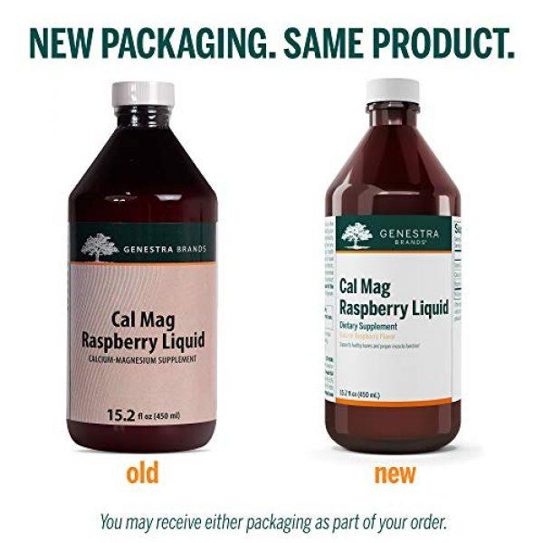 Genestra Brands Calcium Supplement 3 Genestra Brands - Cal Mag Raspberry Liquid - Calcium and Magnesium Citrate Formula with Vitamin D - 15.2 fl. oz.