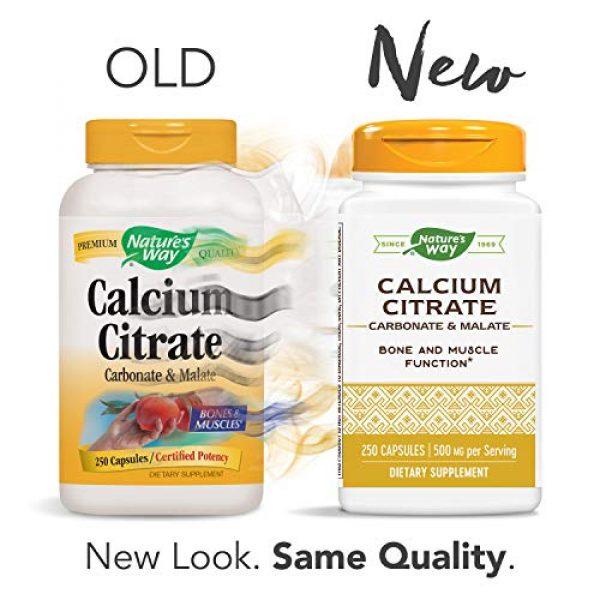 Nature's Way Calcium Supplement 2 Nature's Way Calcium Citrate Complex, 500 mg per Serving, 250 Capsules