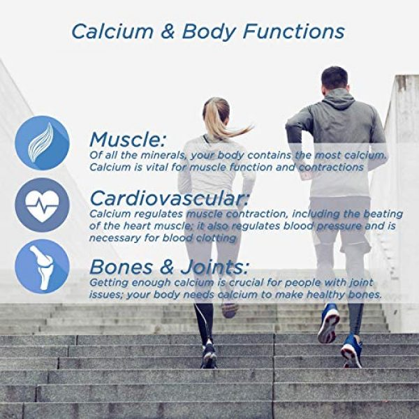 Spoonful Calcium Supplement 5 Spoonful Calcium Carbonate 1200 mg with 800 IU Vitamin D3, 120 Tablets, Supports Bone Health and Strength, Made in USA [2 PK]