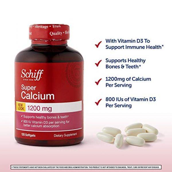 Schiff Calcium Supplement 2 Schiff Super Calcium 1200mg with Vitamin D3, 120 softgels - Calcium Supplement