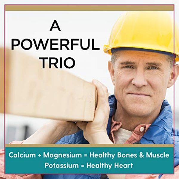 LIFETIME Calcium Supplement 3 Lifetime Calcium Magnesium Potassium, Vitamin D & Boron   Support Bone & Muscle Health   Easy Absorption   120 Capsules, 30 Servings