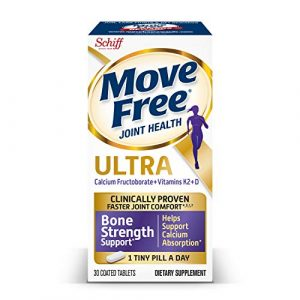 Move Free Calcium Supplement 1 Vitamins D & K2 + Calcium Fructoborate Ultra Bone Strength Support* Tablets, Move Free (30 Count in A Box), Clinically Proven Faster Joint ComfortÙ' in Just 1 Tiny Pill Per Day