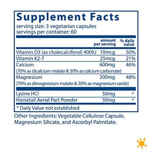 Vital Nutrients Calcium Supplement 2 Vital Nutrients - Osteo-Nutrients (with Vitamin K2-7) - Bone Support Formula - 180 Vegetarian Capsules per Bottle