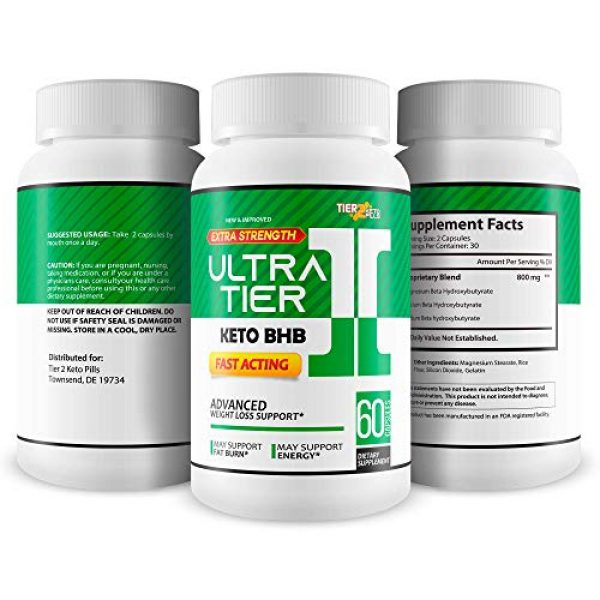Tier 2 Keto Pills Calcium Supplement 4 Ultra Tier II Keto Pills with Bhb - Fast Acting Advanced Weight Loss Support - Burn More Fat & Lose More Weight with Faster Ketosis - Calcium BHB - Ketogenic Accelerator - Tier 2 Keto Pills