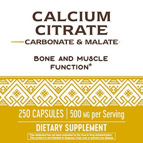Nature's Way Calcium Supplement 4 Nature's Way Calcium Citrate Complex, 500 mg per Serving, 250 Capsules