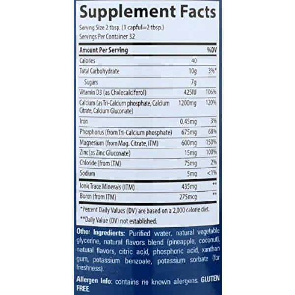 Trace Minerals Research Calcium Supplement 5 Liquid Cal/Mag/Zinc Natural Pina Colada Flavor 32 Ounces, Vitamin D, Calcium, Magnesium, Zinc, Vegan, Gluten Free