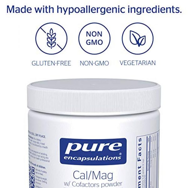 Pure Encapsulations Calcium Supplement 4 Pure Encapsulations - Cal/Mag with Cofactors Powder - Highly-Absorbable Calcium with Magnesium, Vitamin D, Boron, Silica and Xylitol - 11.1 Ounces