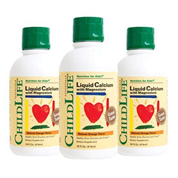 CHILDLIFE ESSENTIALS Calcium Supplement 1 ChildLife Essentials Liquid Calcium/Magnesium Natural Orange Flavor, 16 Ounce (Pack of 3)