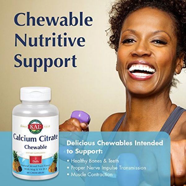 KAL Calcium Supplement 3 KAL Calcium Citrate Chewable Mixed Fruit Supplement, 60 Count